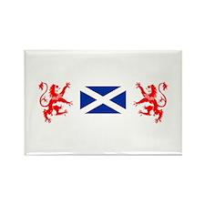 Glasgow Sco White for dark Rectangle Magnet