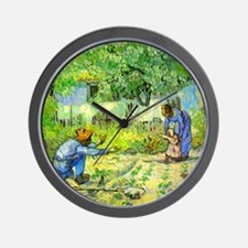 The First Step by Vincent van Gogh. Wall Clock