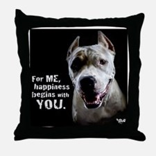 Pit Bull Charlotte Throw Pillow