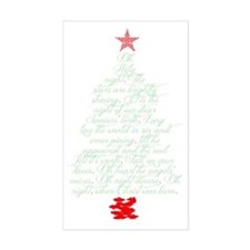 Oh holy night tree Decal