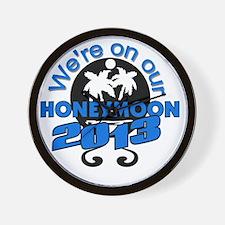 Honeymoon 2013 Wall Clock