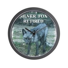 Silver Fox Retired Wall Clock