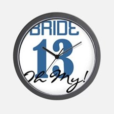 Bride 12 Oh My Blue Wall Clock