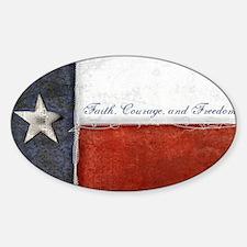 TEXAS Flag Sticker (Oval)