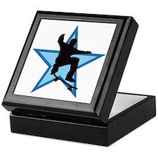 skateboard jump skater star Keepsake Box