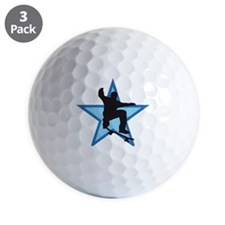 skateboard jump skater star Golf Ball
