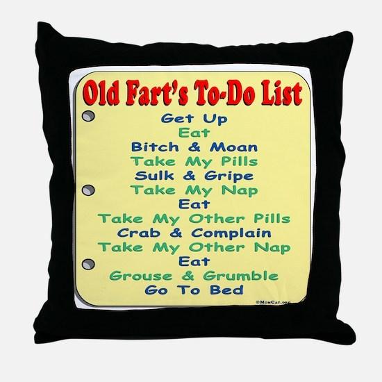 OldF16x16TRANS Throw Pillow