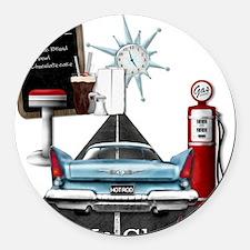 I Fuel Up Gluten Free Round Car Magnet