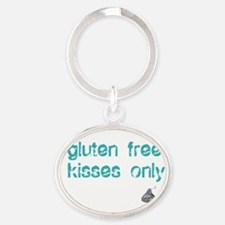 Gluten Free Kisses Only Oval Keychain