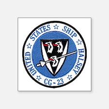 "uss halsey cg patch transar Square Sticker 3"" x 3"""