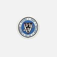 uss halsey cg patch transarent Mini Button