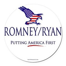 Romney-Ryan America First Round Car Magnet