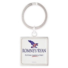 Romney-Ryan America First Square Keychain
