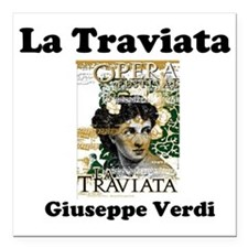 "OPERA - LA TRAVIATA - GI Square Car Magnet 3"" x 3"""