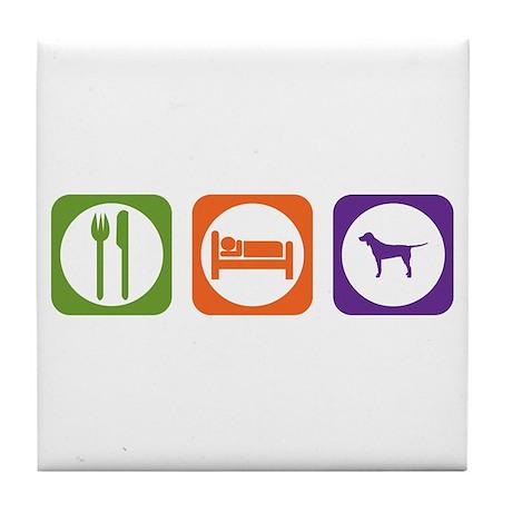 Eat Sleep Coonhound Tile Coaster