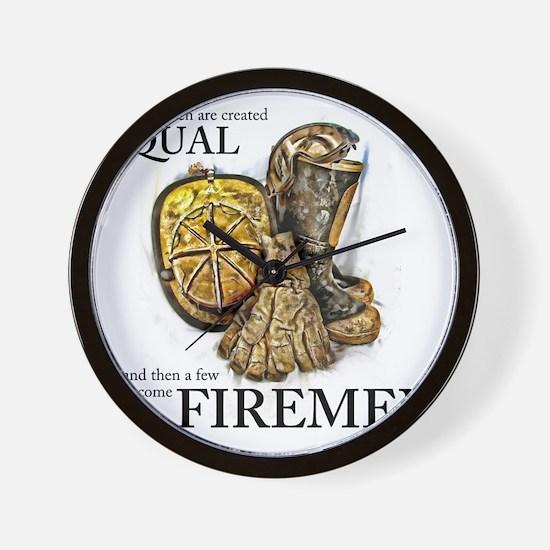 A Few Become Firemen Wall Clock