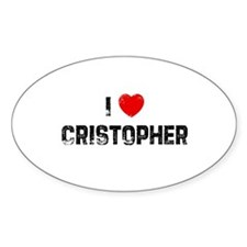 I * Cristopher Oval Decal