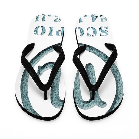 zodiac scorpion Flip Flops