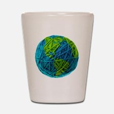 Global Ball of Yarn Shot Glass