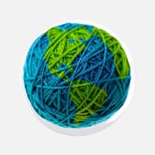 "Global Ball of Yarn 3.5"" Button"