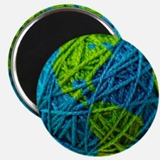 Global Ball of Yarn Magnet