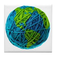 Global Ball of Yarn Tile Coaster