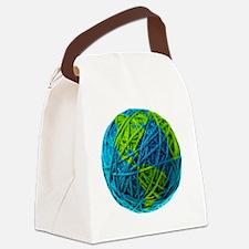 Global Ball of Yarn Canvas Lunch Bag