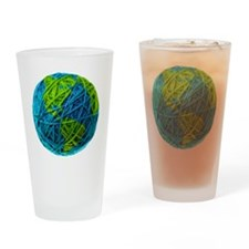 Global Ball of Yarn Drinking Glass