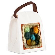 Basket of Yarn Canvas Lunch Bag