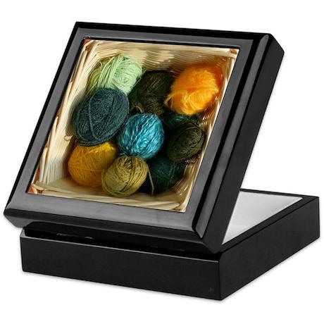 Basket of Yarn Keepsake Box