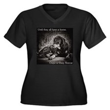 Until they a Women's Plus Size Dark V-Neck T-Shirt