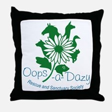Oops-a-Dazy Logo Throw Pillow