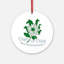 Oops-a-Dazy Logo Round Ornament
