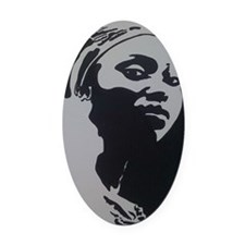 MOTHER AFRICA Oval Car Magnet