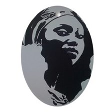 MOTHER AFRICA Oval Ornament