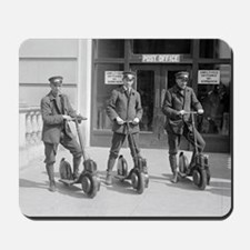 Vintage Postmen On Scooters Mousepad