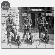 Vintage Postmen On Scooters Puzzle