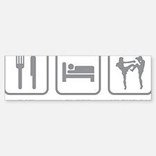 EatSleepKickbox1C Sticker (Bumper)