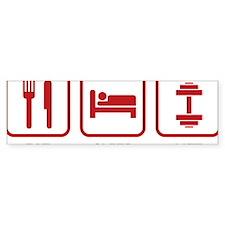 EatSleepLift1D Bumper Sticker