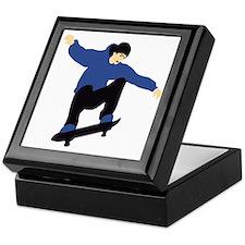 skateboard jump skater Keepsake Box