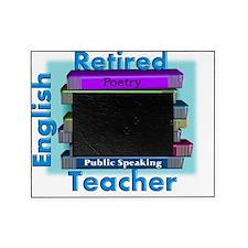 Retired English Teacher BLUE Books Picture Frame