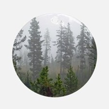 Misty forest Round Ornament