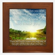 Thank you, thank you, thank you Framed Tile