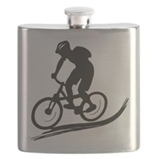 biker mtb mountain bike cycle downhill Flask