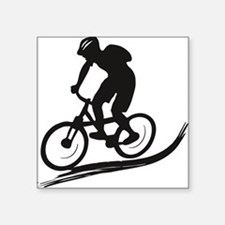 "biker mtb mountain bike cyc Square Sticker 3"" x 3"""