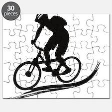 biker mtb mountain bike cycle downhill Puzzle