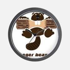eager beaver Wall Clock