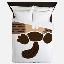 eager beaver Queen Duvet