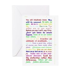 White Slogan Journal Back Greeting Card