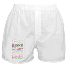 White Slogan Journal Back Boxer Shorts
